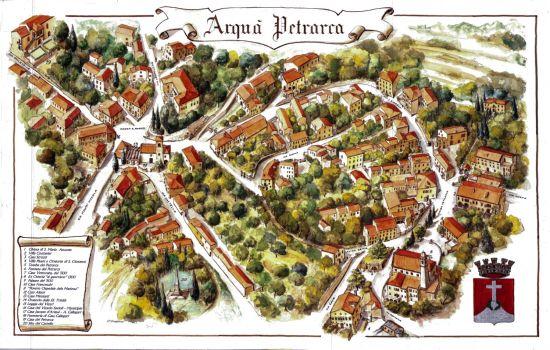 Mappa Arquà Petrarca