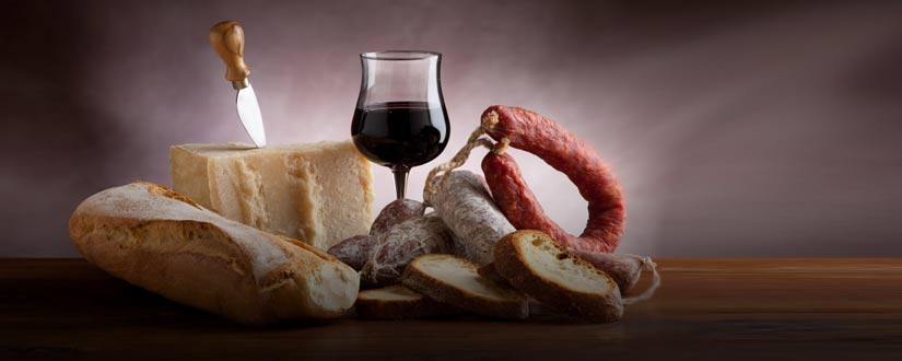 Wines and  typical products of the Euganean Hills
