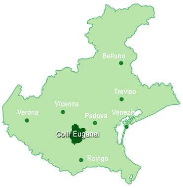 Monti Berici Cartina Italia.Dove Si Trovano I Colli Euganei Colli Euganei